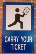 carry your ticket