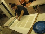 Laura Bauder making paper, taken by P.W.