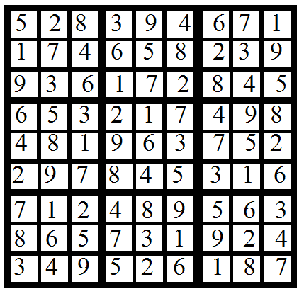 sudoku dec. 6 issue solution