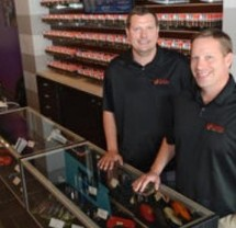 The Martin brothers co-own Vapor Galleria in Allentown.