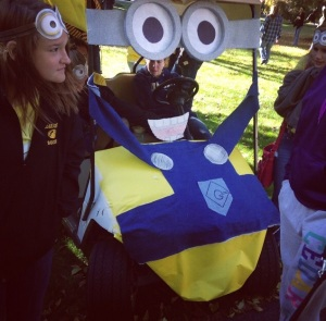 "Rebekkah Parsons/Crestiad The soccer and swimming teams collaborated on a ""Despicable M"" Minions themed car."