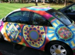 Rebekkah Parsons/Crestiad Amy Frey, graduate art therapy major, painted her VW Beetle.