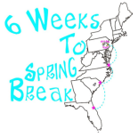 6 Weeks to Spring Break logo