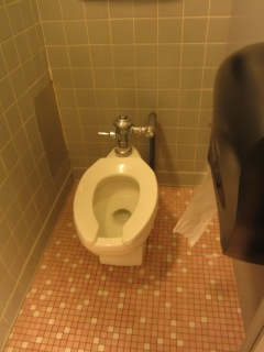 Paula Wesson/Crestiad How many grown adults would happily take their own lunch into a public restroom to eat?