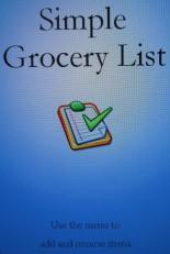 Simple grocery list app home screen